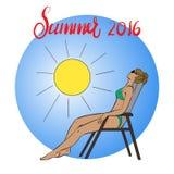 Obrazek młoda dziewczyna sunbathing w słońcu Obraz Royalty Free