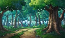 Obrazek malujący w głębokiej lasowej zieleni Fotografia Royalty Free