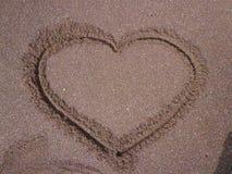 Obrazek miłość na plaży zdjęcie stock