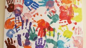 Obrazek na ścianie z drukami dziecko palmy różni kolory 4K 4K wideo zbiory