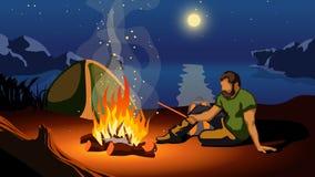 Obrazek obóz ilustracja wektor