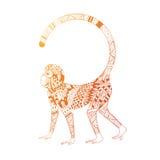 Obrazek ognista małpa Zdjęcie Stock