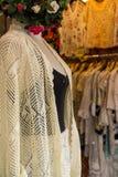 Obrazek piękna koronka ubiera w sklepie obrazy stock