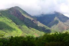 Obrazek piękne góry Hawaii Zdjęcia Royalty Free