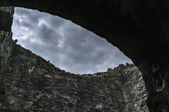 Obrazek Poienari forteca - także nazwany Dracula ` s schronienie obrazy stock