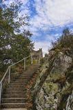 Obrazek Poienari forteca - także nazwany Dracula ` s schronienie obrazy royalty free