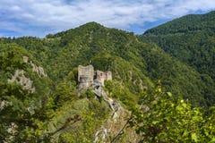 Obrazek Poienari forteca - także nazwany Dracula ` s schronienie fotografia royalty free