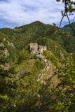 Obrazek Poienari forteca - także nazwany Dracula ` s schronienie zdjęcia stock