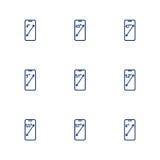 Obrazek przedstawia różne przekątny smartphones ekrany Obrazy Royalty Free