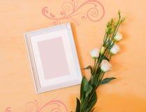 Obrazek rama i eustoma kwiat Zdjęcia Stock