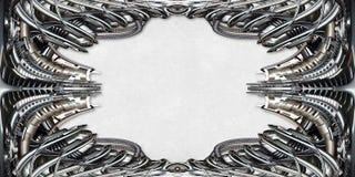 Obrazek rama technicznie w srebrze Obrazy Royalty Free