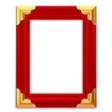 obrazek ramowa rzemienna czerwień Obrazy Royalty Free