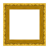 Obrazek ramy ramy drewniany rzeźbiący wzór odizolowywający na białym tle obraz stock
