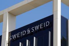 Obrazek Sweid fasada Zakładamy w 2006, SWEID & SWEID jesteśmy zdobywca nagrody Opierającym się nieruchomości firmą obraz stock
