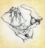obrazek tajemnicze palmowe kobiety trzy ilustracja wektor