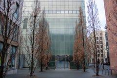 Obrazek wejście nowożytny muzealny budynek fotografia stock