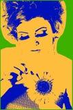 Obrazek z młodą dziewczyną ilustracja wektor