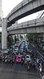 Obrazek zwarty ruch drogowy w Bangkok zdjęcie stock