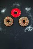 Obrazka kwiat z donuts Obrazy Royalty Free