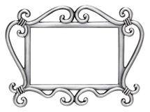 obrazka ramowy srebro Fotografia Stock
