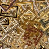 obrazka ramowy złocisty set Zdjęcia Royalty Free