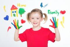 Obrazki podstaw wartości dla jeden małego dziecka Zdjęcie Royalty Free