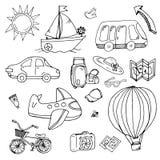Obrazki transportu i turysty wycieczki Obrazy Royalty Free