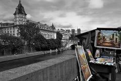 Obrazki w ulicznym kramu Obrazy Royalty Free