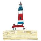 obrazkowa latarnia morska ilustracji