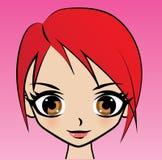 Obrazkowy portret kobieta w odosobnieniu Obraz Royalty Free