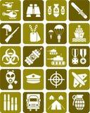 Set militarni znaki Zdjęcie Royalty Free