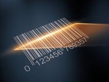 Obrazu cyfrowego barcode z laserowym paskiem ilustracji
