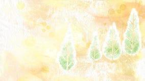 obrazu drzewa akwarela ilustracja wektor