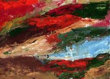 Obrazu guaszu stylu abstrakcjonistyczna sztuka - barwiący br i punkty obrazy stock