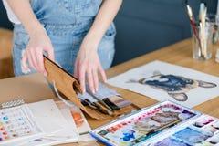 Obrazu hobby osobowości talentu dziewczyny pomysłowo remis zdjęcie stock