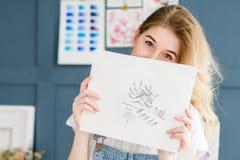 Obrazu hobby talentu akwareli pomysłowo rysunek fotografia royalty free