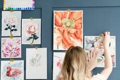Obrazu hobby talentu akwareli pomysłowo rysunek zdjęcia royalty free