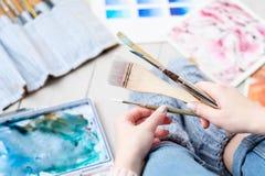 Obrazu hobby talentu akwareli pomysłowo rysunek obraz royalty free