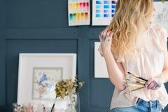 Obrazu hobby talentu akwareli pomysłowo rysunek zdjęcie stock