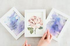 Obrazu hobby talentu akwareli pomysłowo rysunek zdjęcia stock