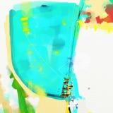Obrazu olejnego abstrakta stylu grafika na kanwie ilustracja wektor