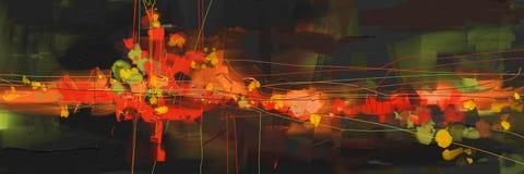 Obrazu olejnego abstrakta stylu grafika na kanwie Fotografia Stock