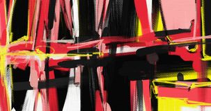 Obrazu olejnego abstrakta stylu grafika na kanwie Zdjęcie Stock