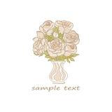 obrazu róż wazy akwarele royalty ilustracja