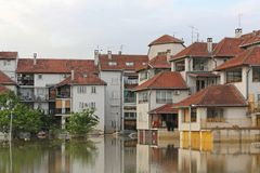 Obrenovac floder royaltyfri fotografi
