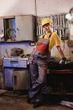 Obrero de sexo femenino Fotos de archivo libres de regalías