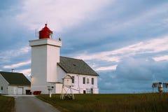 Obrestad灯塔在挪威 免版税图库摄影