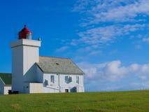 Obrestad灯塔在挪威 库存照片