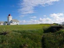 Obrestad灯塔在挪威 免版税库存照片