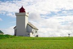 Obrestad灯塔在挪威 图库摄影